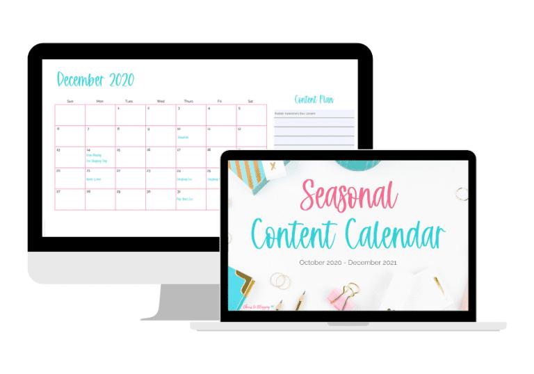 seasonal content calendar